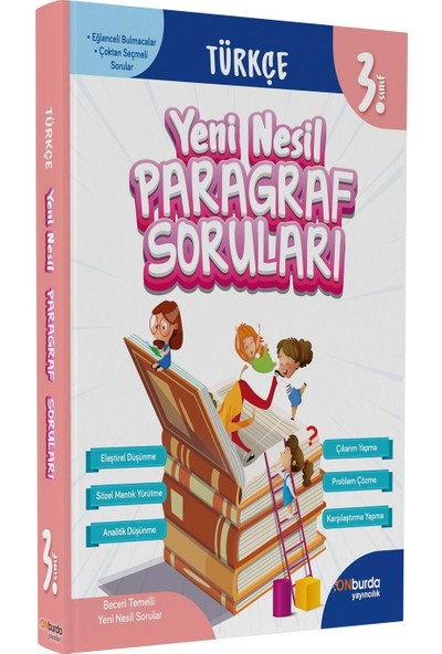 On Burda Yayınları 3. Sınıf Türkçe Yeni Nesil Paragraf Soruları