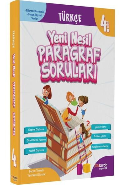 On Burda Yayınları 4. Sınıf Türkçe Yeni Nesil Paragraf Soruları