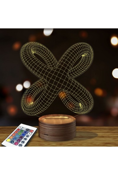 Artikel Düğüm 3D Led Gece Lambası
