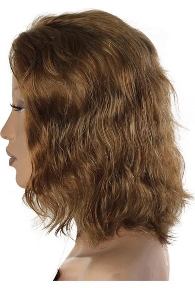 AYTUĞ PERUK % 100 Doğal Saç Medikal - Tül Peruk Küllü Kumral Medıum 25 Part 28