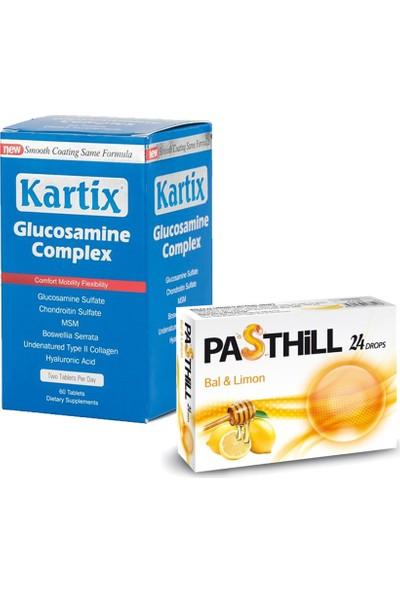 RC FARMA Kartix Glucosamine Chondroitin Msm 60 Tablet + Pasthill Portakal & C Vitamini 24 Drops Hediye