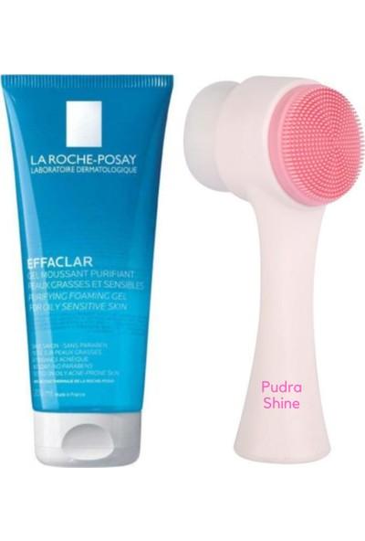 Pudra Shine Yüz Temizleme Fırçası + La Roche Posay Effaclar Temizleme Jeli 200 ml