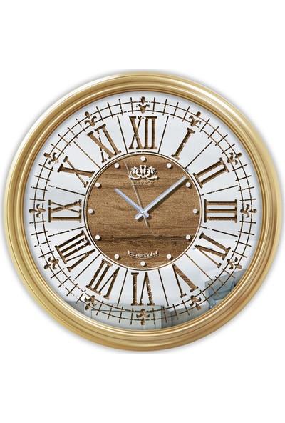 Time Gold Aynalı Duvar Saati