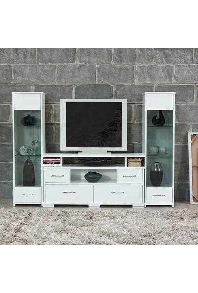 Abre Beyaz Tv Ünitesi LCD Sehpası Vm 440441
