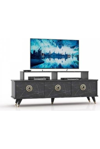 Abre Mermer Desen LCD Sehpası Tv Ünitesi Vm 451