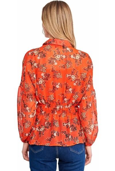 Şamdan Kadın 2319 Nar Çiçeği Bluz