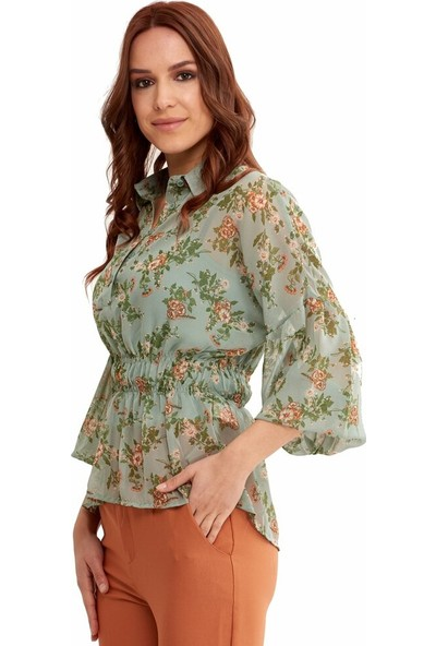 Şamdan Kadın 2319 Yeşil Bluz