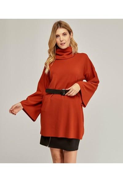 Şamdan Kadın Kiremit Bluz