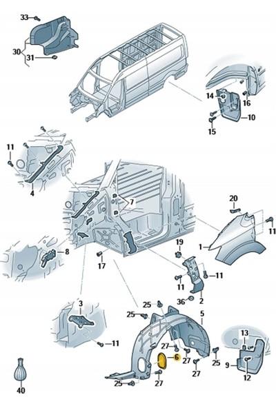 Wolcar Volkswagen Caddy Davlumbaz Kapağı Ön Sol ve Sağ Teker 2015- Model Üzeri 7E0809967