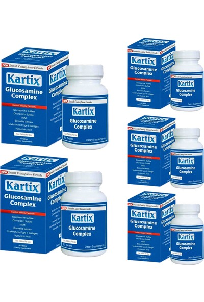 RC FARMA Kartix Glucosamine Chondroitin Msm 60 Tablet x 5 Adet