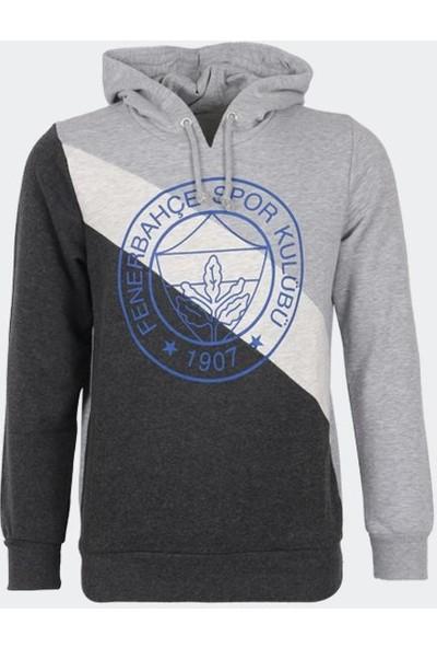 Fenerium Fenerbahçe Erkek Gri Tribün Üç Parçalı Logo Sweatshirt