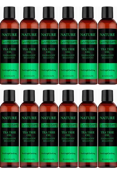 HUNCALIFE Nature Çay Ağacı Saç ve Vücut Şampuanı 350 ml x 12