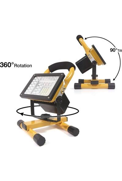 Sezy Profosyonel Projektör Şarjlı Projektör Avcı El Feneri 2400 Lümen