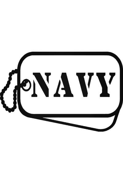 Universal Navy Tags Sticker Araba Oto Arma Duvar Sticker Ev Dekoratif Çıkartma 20 x 20 cm Siyah