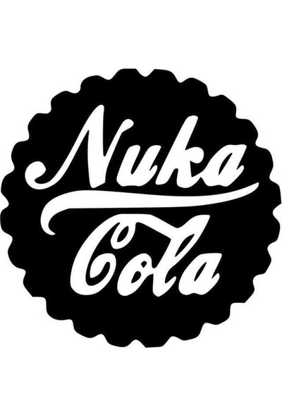 Universal Fallout Nuka Cola Sticker Araba Oto Arma Duvar Sticker Ev Dekoratif Çıkartma 20 x 20 cm Siyah