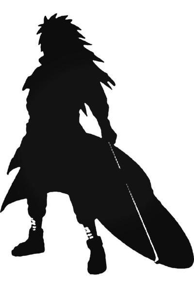 Universal Naruto Madara Uchiha 2 Sticker Araba Oto Arma Duvar Sticker Ev Dekoratif Çıkartma 20 x 20 cm Siyah