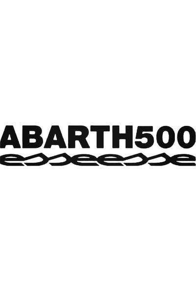 Universal Fiat Abarth 500 Esseesse Sticker Araba Oto Arma Duvar Sticker Ev Dekoratif Çıkartma 20 x 20 cm Beyaz