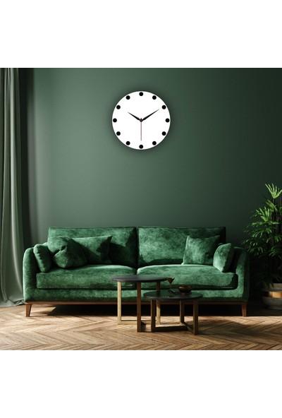 MakeArt Home Dijital Baskılı Dekoratif Mdf Duvar Saati