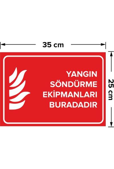 Mıgnatıs - Yangın Söndürme Ekipmanları Buradadır Levhası - Dekote Malzeme 25X35Cm