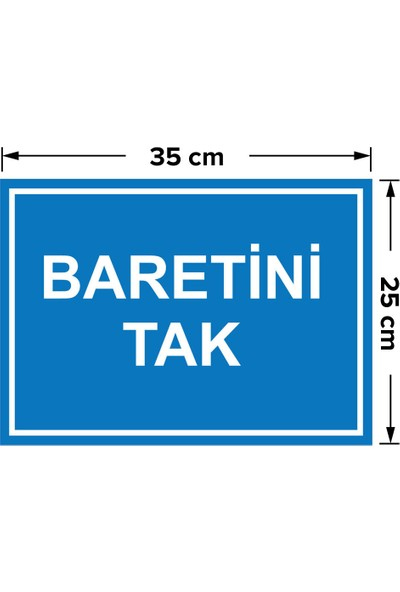 Mıgnatıs - Baretini Tak Levhası - Dekote Malzeme 25X35Cm