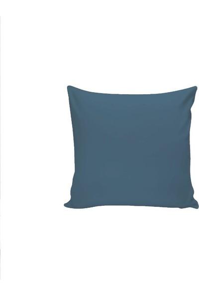 Textilla Petrol Mavi 42 x 42 cm Kırlent Kılıfı