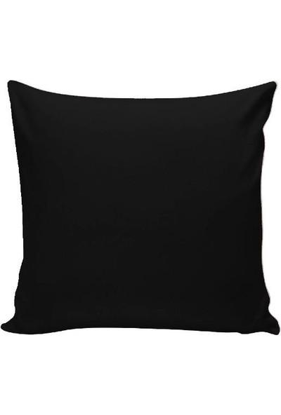 Textilla Siyah 42 x 42 cm Kırlent Kılıfı