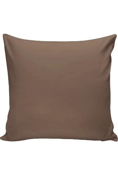 Textilla Açık Kahverengi 42 x 42 cm Kırlent Kılıfı