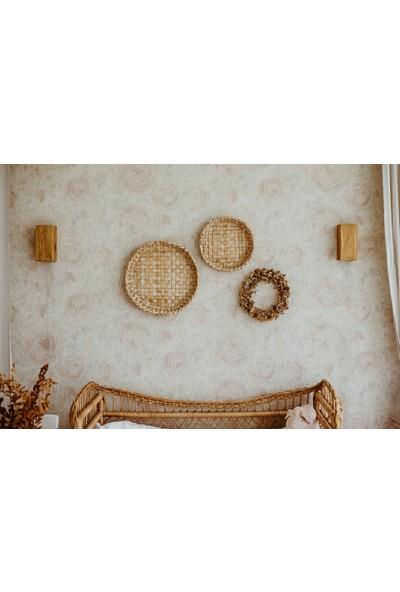 Hüma Tasarım Yansıtma Tasarımlı Ahşap Yatak Yanı - Salon Duvar Aplik Avize