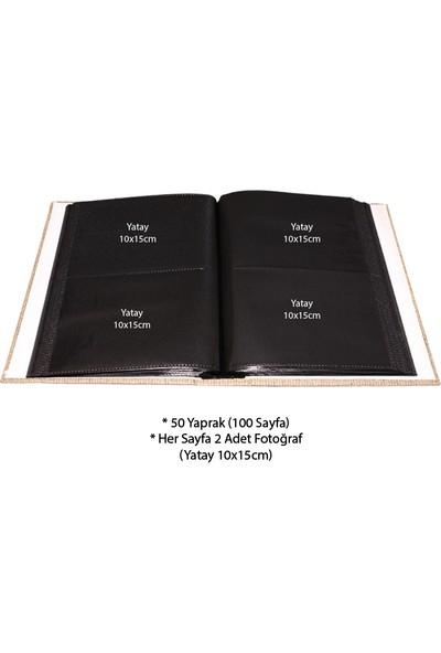 Adf Toptan 200'lük Koton Desenli Fotoğraf Albümü