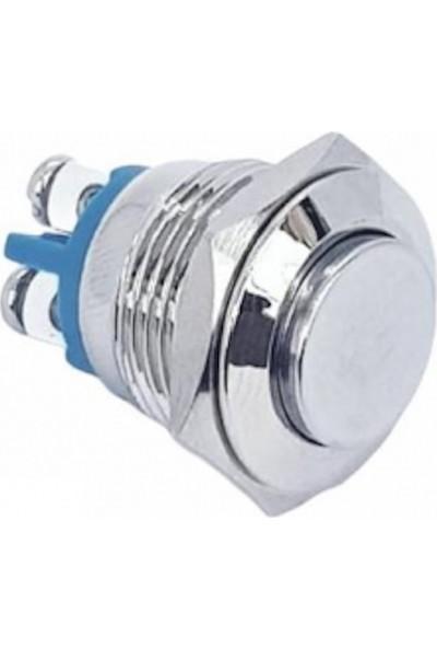Swion D40 16 mm IP65 Işıksız Çıkık Düğmeli Metal Buton