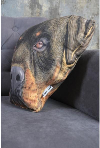 Kırlenthome Rottweiler Köpek Yüzü Yastık