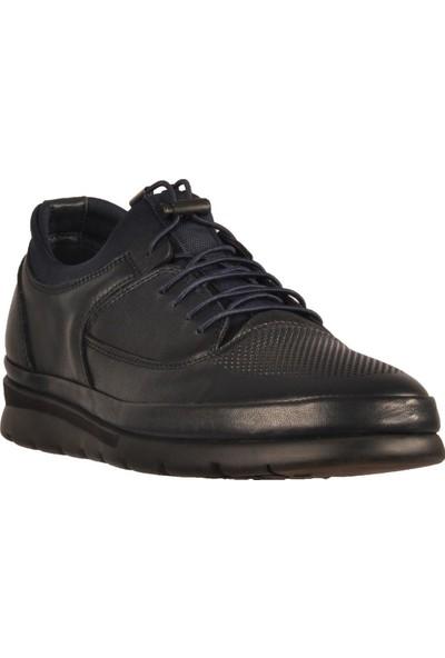 James Franco 5192 Lacivert Erkek Günlük Hakiki Deri Ayakkabı