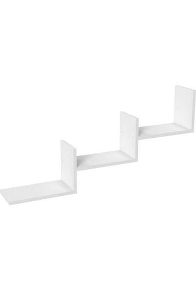 Mimilos R4 3 Üç Bölmeli Dekoratif Merdiven Duvar Rafı