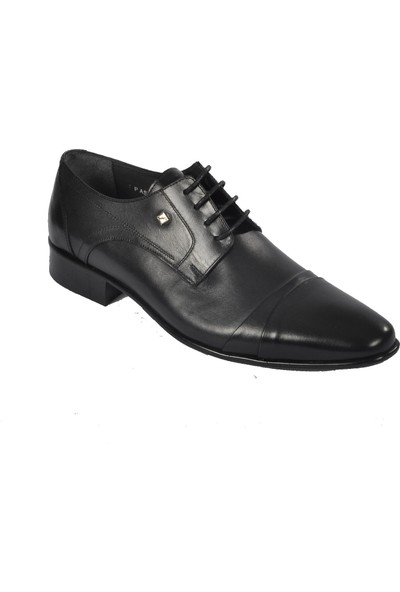Fosco 2225-3 Siyah Erkek Hakiki Deri Klasik Ayakkabı