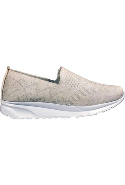Voyager 19.y 7364 Z Ayakkabı Beyaz-Simli Kadın Spor Ayakkabı