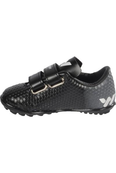 Walkway 023 P.halısaha Siyah-Beyaz Çocuk Halı Saha Ayakkabısı