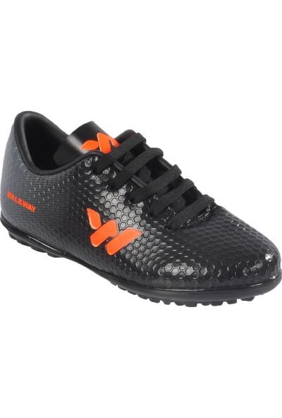 Walkway 023 Siyah-Turuncu Çocuk Halı Saha Ayakkabısı