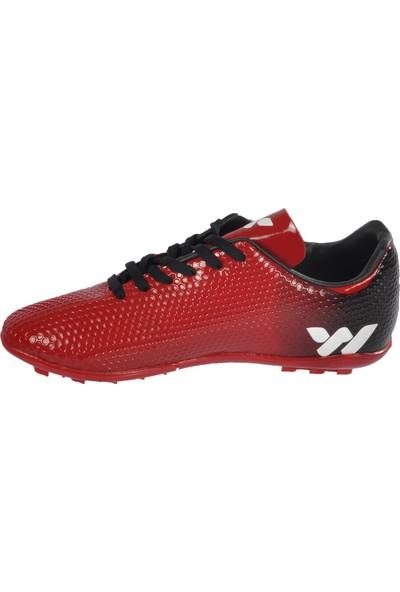 Walkway 023 Kırmızı-Beyaz Erkek Halı Saha Ayakkabı