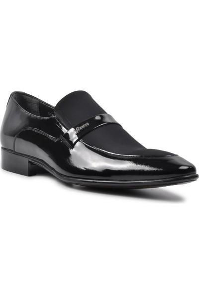 Fosco 2280-3 M Ayakkabı Siyah Rugan-Nubuk Erkek Klasik Ayakkabı