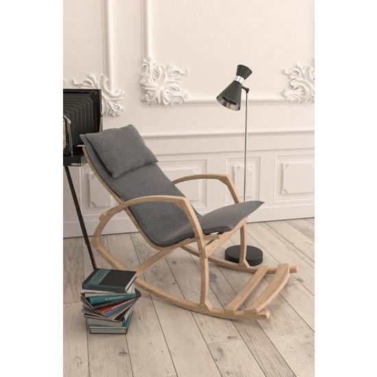 Mobildeco Ahşap Sallanan Sandalye Dinlenme Koltuğu