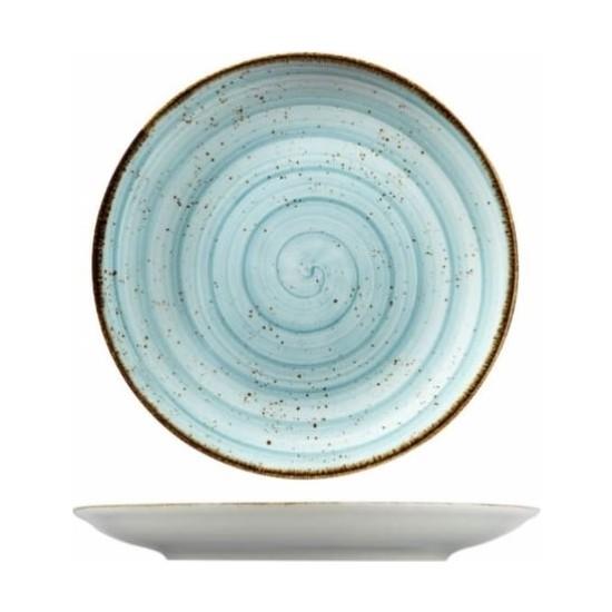 Kütahya Porselen Atlantis 27 cm. Düz Tabak Mavi