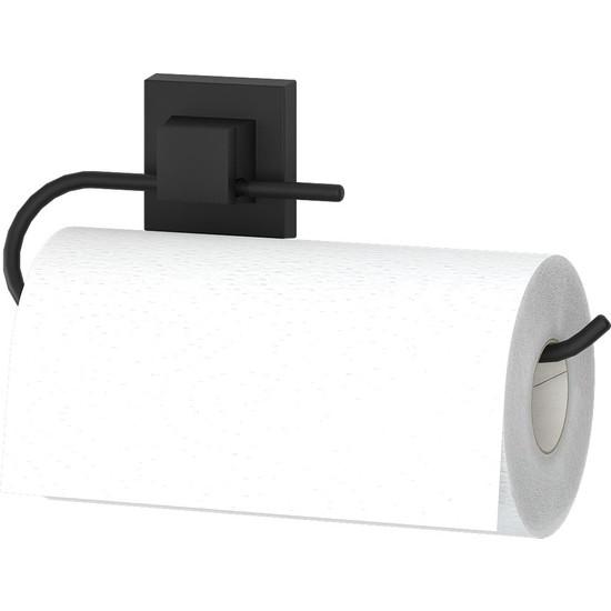 Teknotel Delme Vida Matkap Yok! Easyfıx Yapıskanlı Kağıt Havluluk Mat Siyah EF240