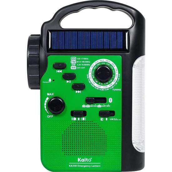 Kaito KA340 5 Yönlü Kamp Feneri ve Acil Durum Radyo