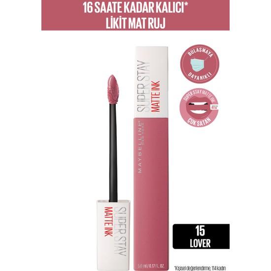 Maybelline New York Super Stay Matte Ink Likit Mat Ruj - 15 Lover - Pembe