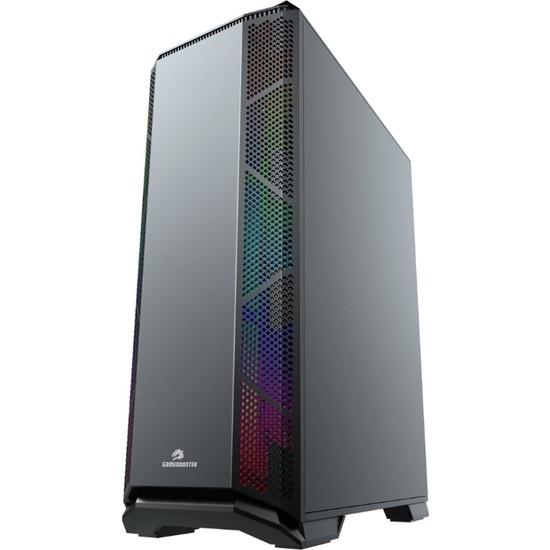 GameBooster GB-G5170B 600w 80+ ATX USB 3.0, ABS+LED STRİP, ARGB Fanlı Siyah Gaming Kasa (JBST-GBG5170B)