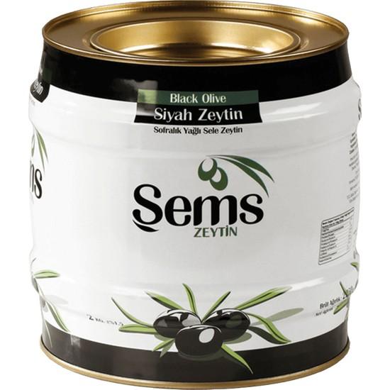 Şems Yağlı Sele Siyah Zeytin 2 kg (291-320)