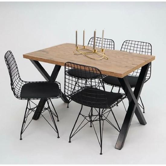 Coşar Group Masa Sandalye Takımı Ayak Woody Çam Yemek Masa Takımı