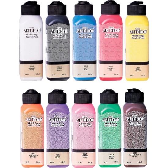 Artdeco Colorful Akrilik Boya Seti 10 Renk x 140 ml