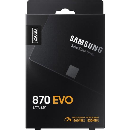 "Samsung 870 Evo 250GB 560MB-530MB/s Sata 2.5"" SSD (MZ-77E250BW)"