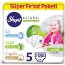 Sleepy Natural Bebek Bezi 5 Numara Junior Süper Fırsat Paketi 11 - 18 kg 120 Adet